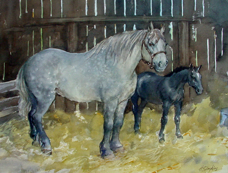Mother and Foal Henry Simpkins