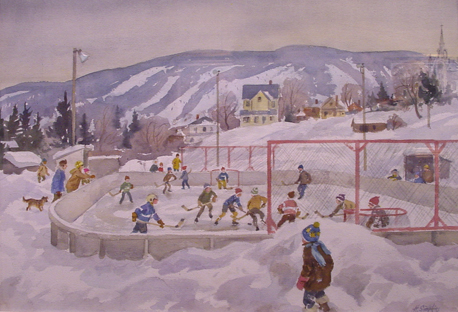 Kids Playing Hockey Henry Simpkins
